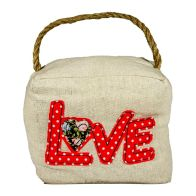 See more information about the Applique Cube Door Stop Love