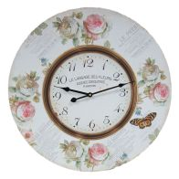 See more information about the Flowers Wooden Wall Clock (58cm Diameter)