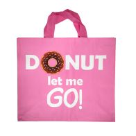 See more information about the Woven Shopping Bag - Donut Let Me Go