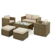 See more information about the Tuscany 6 Piece 2 Seat Garden Sofa Set Brown