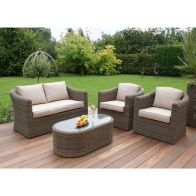 See more information about the Winchester 2 Seat Garden Sofa Set Brown