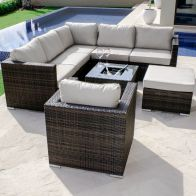 See more information about the London Corner Ice Bucket Garden Sofa Set & Chair Brown