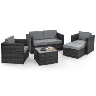 See more information about the 5 Piece 2 Seat Ice Bucket Garden Sofa Set Grey