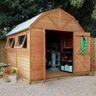 See more information about the Mercia 10 x 8 Premium Double Door Shiplap Dutch Barn Shed
