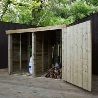 See more information about the Mercia 3 x 6 Pent Log Store - Windowless