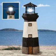 Bright Garden Solar Lighthouse Garden Ornament - Black