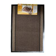 See more information about the 90x60cm JVL Miracle Barrier Mat - Brown Stripe