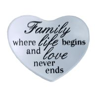 See more information about the Mirror Heart  14x17cm (Family) With Black Hanging Ribbon