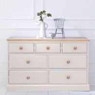 See more information about the Country Cottage Cream & Oak Chest Of 7 Drawers