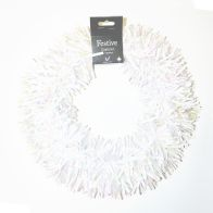 Tinsel Wreath - White And Pearlescent