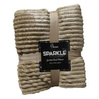 See more information about the Your Home 125 x 150cm Sparkle Jumbo Cord Light Brown Throw