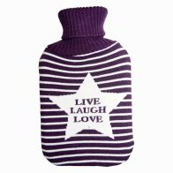 See more information about the Knitted Hot Water Bottle - Live Laugh Love