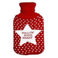 See more information about the Knitted Hot Water Bottle - Follow Your Heart