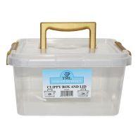 3.5L TML Stacking Plastic Storage Box Clear & Gold Clip Lid