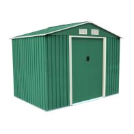 See more information about the 8ft x 6ft Metal Zinc Frame Garden Storage Shed - Green