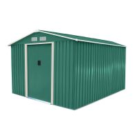 See more information about the 8ft x 10ft Metal Zinc Frame Garden Storage Shed - Green