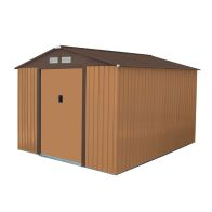 See more information about the 8ft x 10ft Metal Zinc Frame Garden Storage Shed - Brown