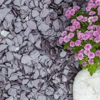 See more information about the Blue Decorative Slate Chippings 20mm Bulk Bag