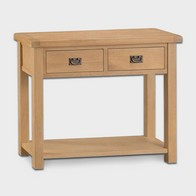 See more information about the Cotswold Console Table Oak 1 Shelf 2 Drawer