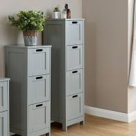 See more information about the Colonial Grey Slim Chest Of 4 Drawers