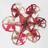 See more information about the Starburst Christmas Decoration 16 Inch Red & Gold