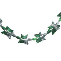 See more information about the Christmas Garland Decoration 8 Foot x 9 Inch Green & Gold