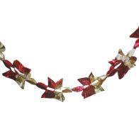 See more information about the Christmas Garland Decoration 8 Foot x 9 Inch Red & Gold