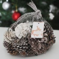 See more information about the Festive Exotics Pine & Cinnamon Potpourri In A Net - Winter