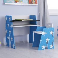 See more information about the Stars Desk Blue 1 Shelf & Chair