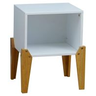 See more information about the Kudl Bedside Table White 1 Shelf