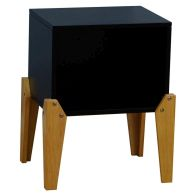 See more information about the Kudl Bedside Table Black 1 Shelf