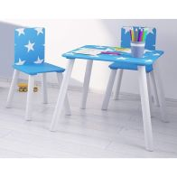 See more information about the Stars Play Table Blue With 2 Chairs