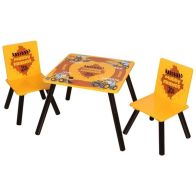 See more information about the JCB Play Table Yellow With Two Chairs