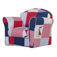 See more information about the Patchwork Armchair Blue & Red