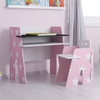 See more information about the Stars Desk Pink 1 Shelf Stars