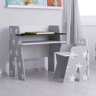See more information about the Stars Desk Grey 1 Shelf & Chair
