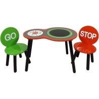 See more information about the Racing Car Play Table With Two Chairs
