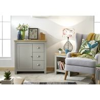 See more information about the Lancaster Sideboard Grey & Oak 1 Door 3 Drawer