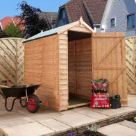 See more information about the Mercia 6 x 4 Overlap Apex Shed - Windowless