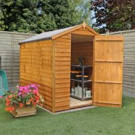 See more information about the Mercia 7 x 5 Overlap Apex Shed - Windowless