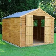 See more information about the Mercia 12 x 8 Overlap Apex Shed - Windowless