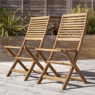 See more information about the Charles Bentley FSC Acacia Hardwood Pair of Folding Chairs