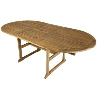 See more information about the Charles Bentley FSC Acacia Hardwood Oval Extendable Table