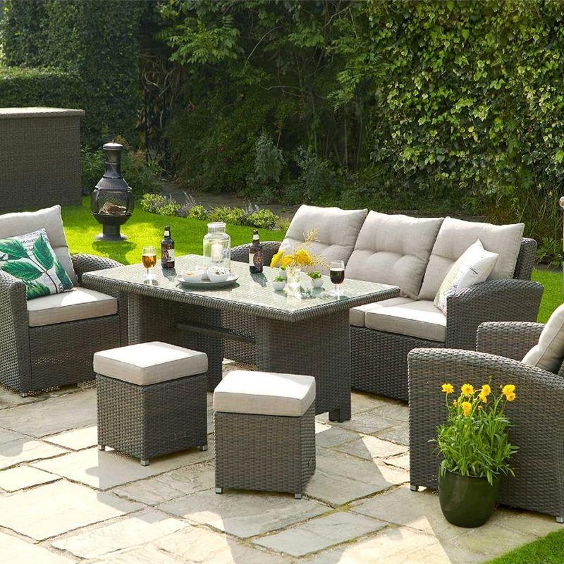 Canterbury Rattan Rectangle Garden, Cherry Lane Furniture
