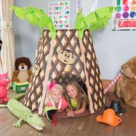 See more information about the Jumpking Bazoongi Kids Play Tent Palmtree Monkey Hut
