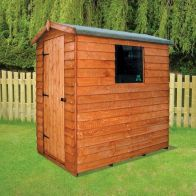 See more information about the Albany Sheds Cottage 6' x 4' Apex Overlap Wood Garden Shed