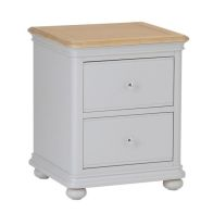 See more information about the Mulbarton Bedside Grey & Oak 2 Drawers