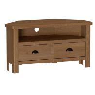 See more information about the Rutland Oak Corner TV Unit Rustic