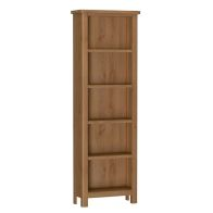 See more information about the Rutland Oak Large Bookcase Rustic