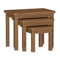 See more information about the Rutland Oak 3 Nest of Tables Rustic